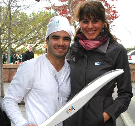 Olympians Catriona Le May Doan and Alexandre Despatie
